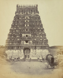 Unidentified temple gopura, possibly at Kanchipuram